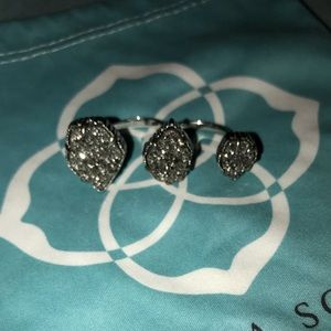Kendra Scott druzy three stone ring